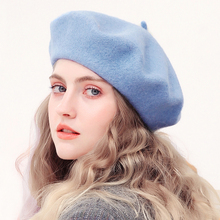Wool Beret Hats Women Winter French Hat Girls Solid Color Fashion Autumn Winter