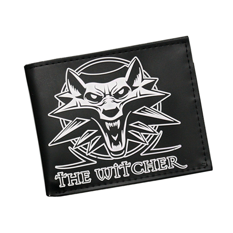 3D Wolf Head Embossing Game Wallet The Witcher Wallet Women Men Animal Purse Credit Card Holder Money Dollar Bag Anime Wallets anime fairy tail wallet cosplay school students money bag children card holder case portefeuille homme purse wallets