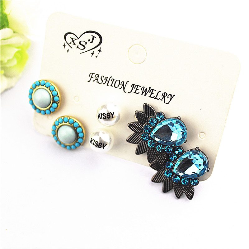New popular gorgeous women accessories girls birthday party mixing type stud earrings ea ...