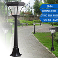 1.2M 200LM Outdoor LED Solar Garden Post Light Waterproof Pillar Lamp for Garden Decor Path Home Landscape Lawn Yard Street Lamp