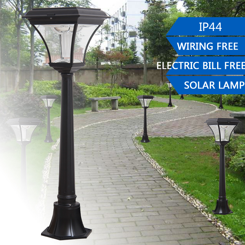 1.2M 200LM Super Bright Outdoor LED Solar Post Light