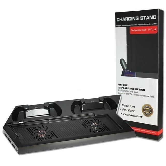 1 unid Ventilador de La Consola con el regulador de Carga del cargador del Muelle Estación De Construir-en 3 Puertos USB Para Sony Para Playstation 4 PS4