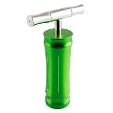Formax420 5.5 Inch Green T Shape Pollen Presser Metal Heavy Duty High Pressure Tobacco Grinder