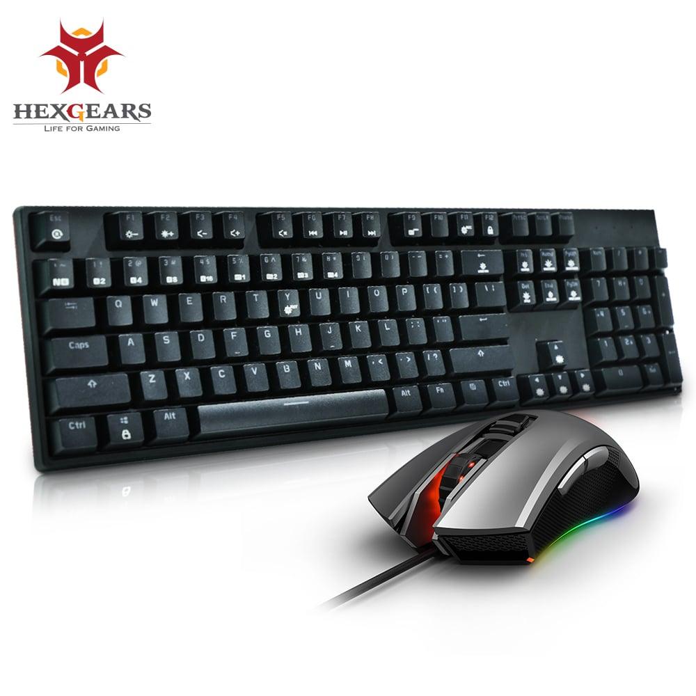 Ensemble de souris combinée de clavier de souris de jeu de clavier mécanique d'échange à chaud d'hexengrenages GK705 Kailh commutateur de boîte 5000 DPI clavier de souris