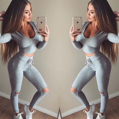 Fashion Women Tracksuit Hoodie Sweatshirt Pants 2Pcs Set Jumper Top Wear Suit Clothes