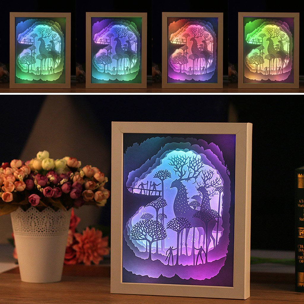 3D paper atr mural LED nightlight colorful light and shadow three-dimensional decorative lights Photo frame light IY804017-7 face recognition using three dimensional and multimodal images