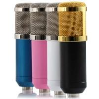 Berufs Wired Kondensator Tonaufnahme Mikrofon W/Shock Mount Microfone für Studio Gesang Karaoke PC Laptop 4 Farbe