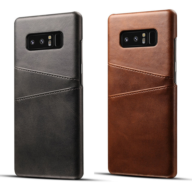 sports shoes 731ad a181c Genuine Real Leather Case For Samsung Galaxy Note 8 Case Note 9 Retro  Vintage Wallet Back Cover For Galaxy S9 Plus S8 S7 Edge