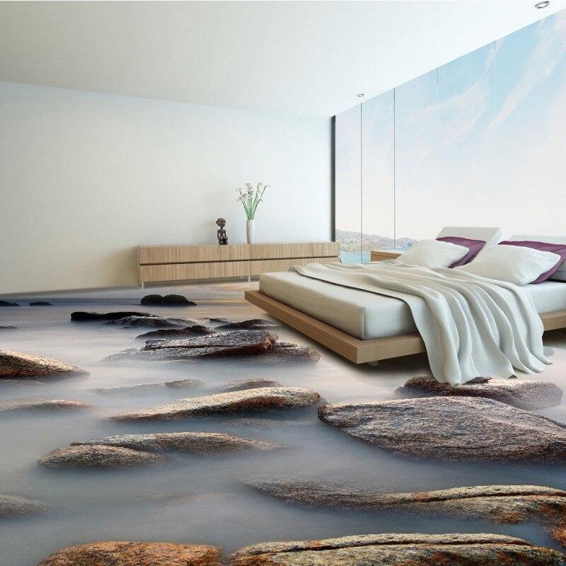 Free Shipping 3D Shore Reef Dolphin Sunset Beach Landscape Floor Waterproof  Bedroom Living Room Bathroom Flooring Mural In Wallpapers From Home  Improvement ...