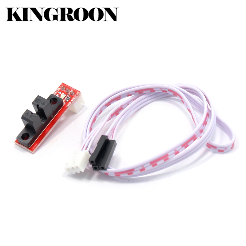 Endstop Optical Light Control Limit Switch with 3 Pin Cable 3D Printers Parts For RAMPS 1.4 Board Part Accessories White Red DIY 6pcs ramps 1 4 optical endstop limit light control switch 3d printer new h02