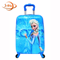 JKBW NEW Cartoon ABS+PC 19 Inch Rolling Luggage travel Spinner Kids Luggage Trolley Suitcase Wheels for Girls and Boys