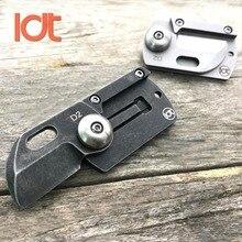 LDT Dog Tag Mini Folding Knives D2 Blade Handle Camping Outdoor Knife C188 Tactical Survival Knife Pocket Hunting EDC Tools