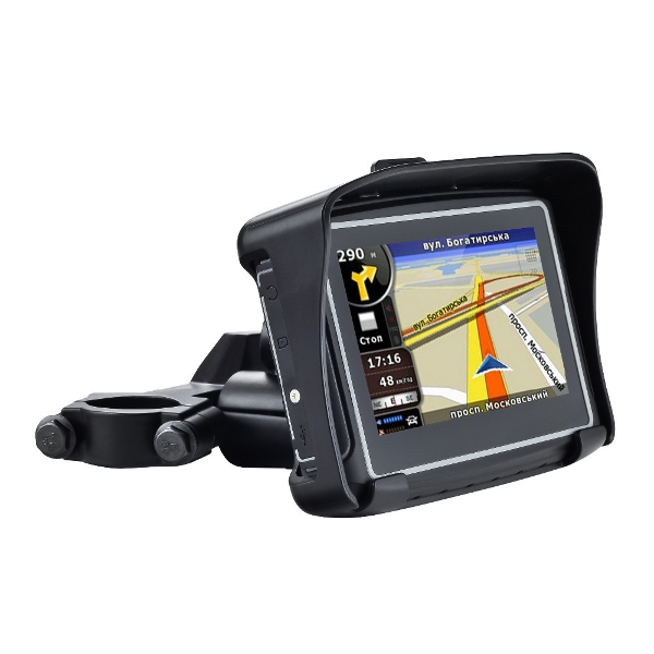 4 3 Inch Motorcycle GPS Navigation Systemwith IPX7 Rating has 8GB of internal memory a micro