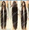 Аниме Cos Темно-Коричневый Женщины длинные прямые Косплей Термостойкого Парик 150 см Температура королева женщин Косплей волос парики быстрая доставка