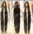 Anime Cos Marrón Oscuro Mujeres Cosplay recta larga Peluca A Prueba de Calor 150 cm Temperatura reina Cosplay pelo de las mujeres pelucas entrega rápida