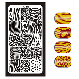Image 3 - 12*6cm 32 Designs Geometry English Letter Nail Art Stamping Template Plates DIY Polish Print Image Plates Manicure Tools XYZ1 32