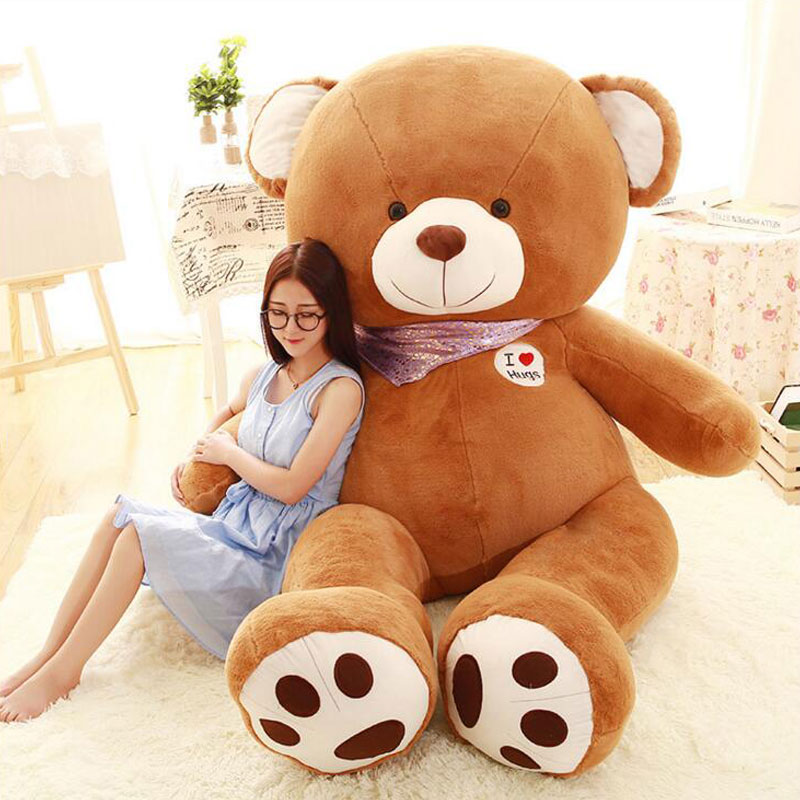 Oversize 200cm American Bear Big Size Creative Hold Bear Doll PP Cotton Inside Plush Baby Doll Toys For Kids Birthday Gift Toys oversize 200cm american bear big size creative hold bear doll pp cotton inside plush baby doll toys for kids birthday gift toys