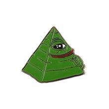 Illuminati Pepe Meme Pin
