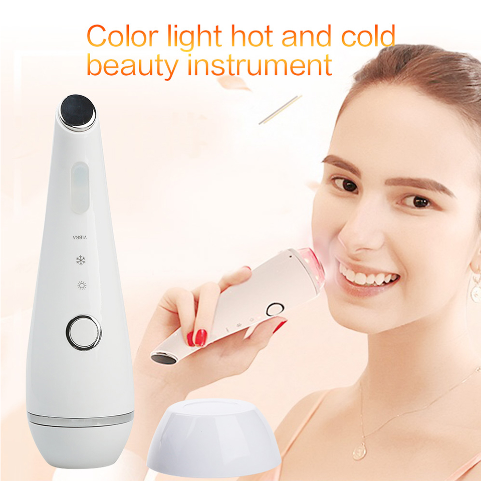 Warming Cooling Therapy Blue Red Led Light Photon Rejuvenation Anti Aging Acne Treatment Face Eye Beauty Care Massager MachineWarming Cooling Therapy Blue Red Led Light Photon Rejuvenation Anti Aging Acne Treatment Face Eye Beauty Care Massager Machine