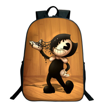 2018 Children School Bags Bendy and The Ink Machine Backpack Student Book Backpack Daily Backpack Cartoon Mochila School Gifts