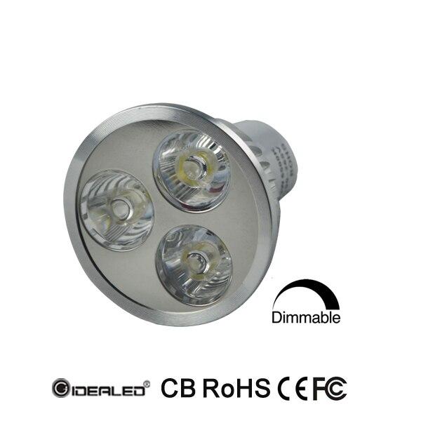 Gratis frakt 6W dimbar led lampe med Bridgelux LED gu10 AC90-265V led lampe 10 stk / lot