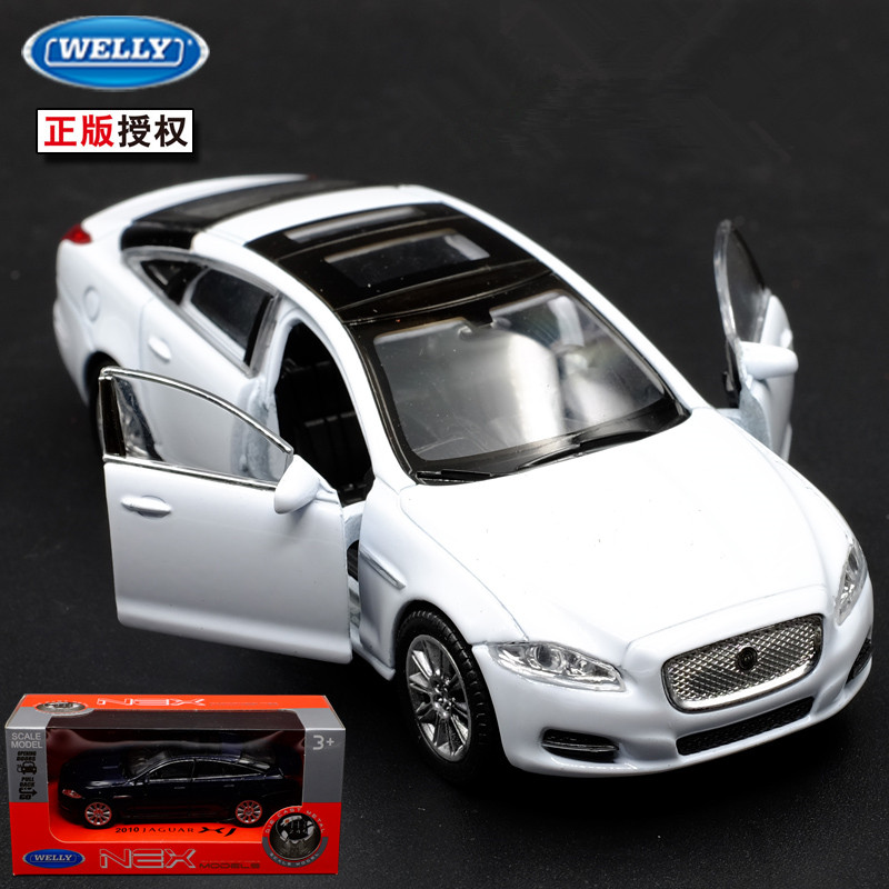 1pc 1 36 11 5cm delicacy WELLY 2010 Jaguar XJ roadster car alloy model home collection