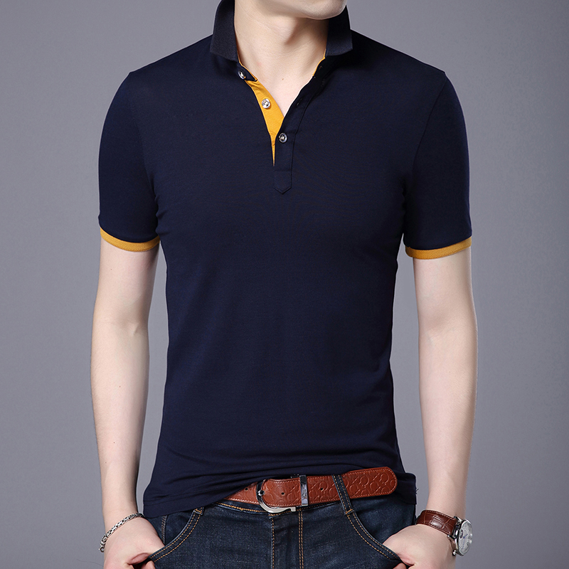 2019 New Fashions Brand   Polo   Shirt Mens Solid Color Boys Summer Slim Fit Short Sleeve Boyfriend Gift   Polos   Casual Men's Clothing
