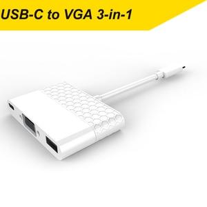 Image 5 - Apple macbook & pro (Thunderbolt 3 포트) 용 thunderbolt 3 Type C USB 3.1 4K HDMI VGA 3 in 1 어댑터 케이블