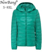 NewBang Brand 7XL 8XL Womens Down Coat Ultra Light Down Jacket Women Hooded Female Big Size Winter Feather Warm Jacket
