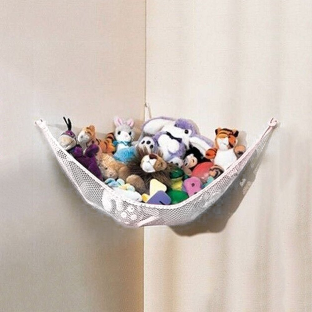 130 x 66 66cm Baby Toy Hammock Net Stuffed Animals Dolls Storage Hanging Poly Deluxe Pet Organize Corner kids