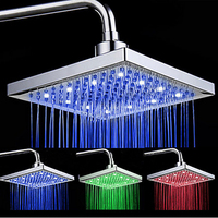 Newly Arrival LED Color Changing Rainfall Shower Head Rectangular Waterfall Shower Head