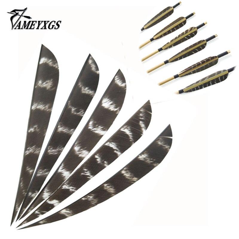 "4/"" 50pcs Archery Natural Turkey Feather RW Arrow Fletching Parabolic Shape"