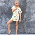 Детские Бобо Выбирает Лето Мальчики футболка Дети Топы Мультфильм Ананас Pattern Девушки Футболки Мальчиков Одежда для Детей футболки