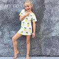 Baby Bobo Choses  Summer Boys T shirt Kids Tops Cartoon Pineapple Pattern Girls T-shirt Boys Clothes Children T shirts