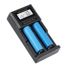 цена на DC12V input 18650 Charger LCD display Battery charger for li-ion battery 18650 18350 26650 10440 14500 18500 NI-CD NI-MH AA AAA