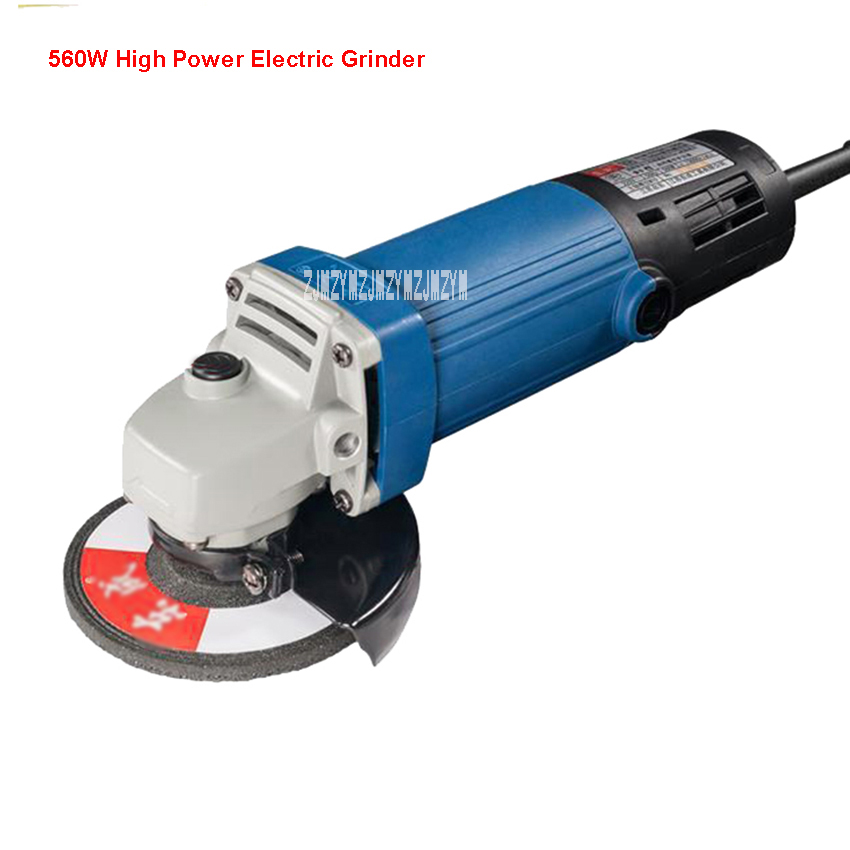 S1M-FF04 Professional Power 560W Mini Electric Angle Grinder Polisher Machine Heavy Duty 100mm Hand Sander Wheel Grinder Tool 15 inches power tool box 100mm angle grinder grinder toolbox plastic box