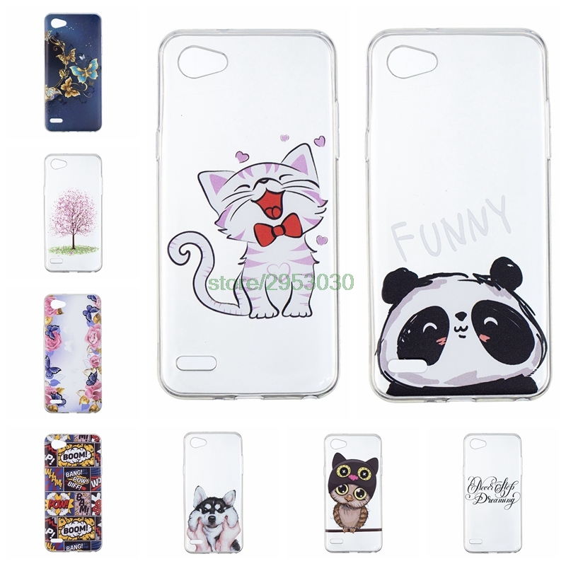 Soft TPU Cases for LG Q6 Q 6 M700AN M703 LGQ6 M700Y X600L Case Panda Clear Silicone Cover for LG Q 6 LGM700AN Mobile Phone Cases