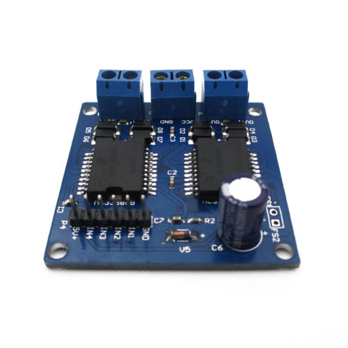 5~12V 5A Dual <font><b>MC33886</b></font> 4 Output Motor Power Driver Module For Smart Car New image