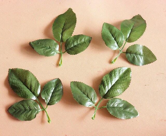 Diy Met Takken : 13 12 cm kunstmatige blad met drie takken zijde rose bladeren nep