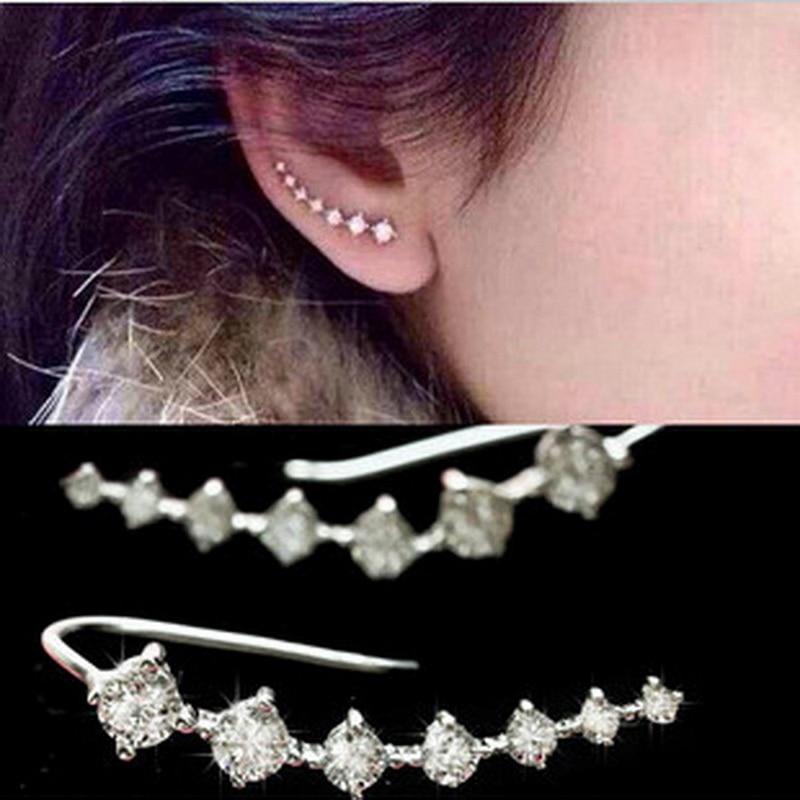 Kittenup Fashion Seven stars Earrings for women Trendy Jewelry Beautifully Ear Jacket Cu ...