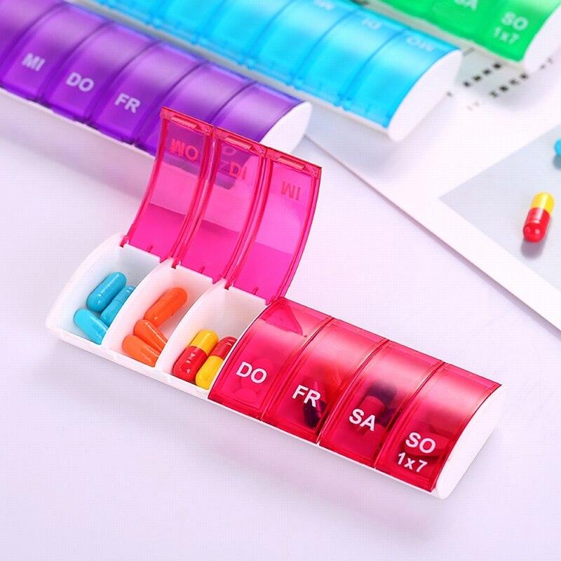 Urijk Splitters Medicine-Box Tablet Pill-Storage-Box Weekly-Pill-Organizer Plastic 7-Days