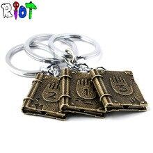 Gravity Falls Journal3 keychain Diepsloot diary LOGO alloly keyring Hard Back key chains font b children