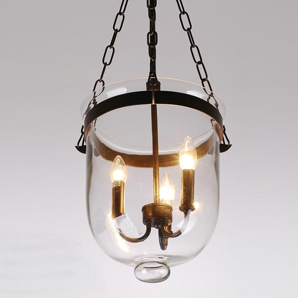 RH Retro American Country Loft Iron Pendant Lamp Glass Bucket Mediterranean Bar Warehouse Light Pendant E14 Lighting Fixture