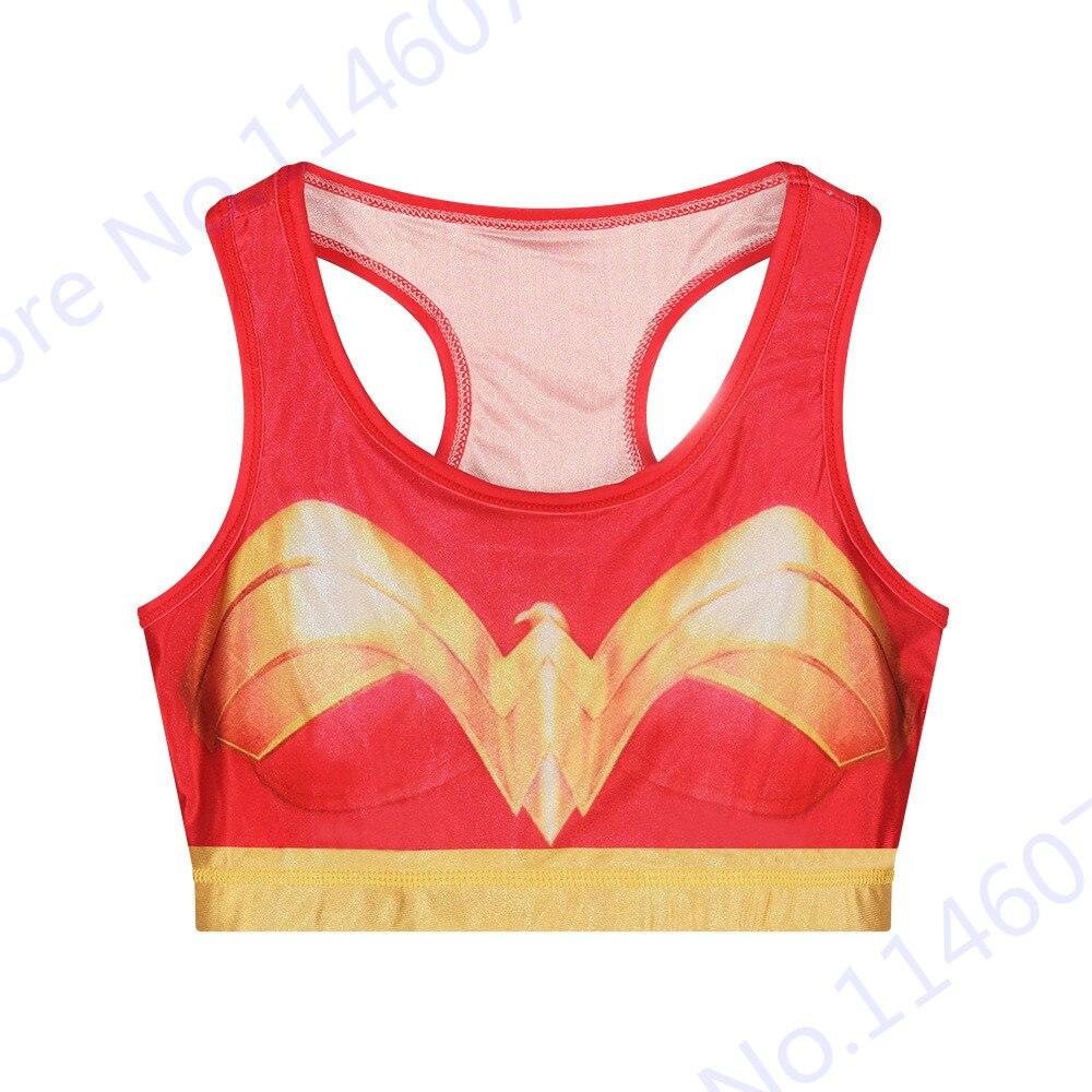 ce54bb67319c Wonder women deportes running bras ropa interior de fitness sexy mujer  maravilla yoga bras sujetador rojo corriendo chalecos sin mangas recortada  tops en ...