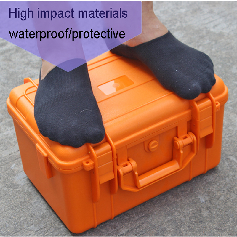 Waterproof Protective Hard Case Toolbox Impact Resistant Sealed Case Camera Case Security Equipment Instrument Box With Foam