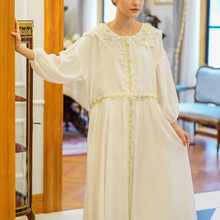 Summer Ladies Ultra Casual Loose White Dress WomenVintage Lu
