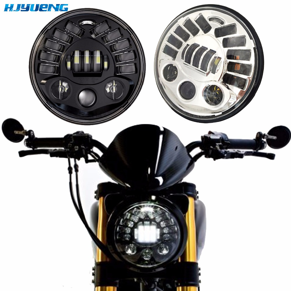 """Image 2 - 80w 7""""For BMW R NineT R9T Daytinme Running Light Led Headlight DRL for Harley Motorcycle Accessories turn signal parking light"""