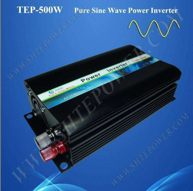 Pure Sine Wave Power Inverter DC 12V to AC 230V 500W