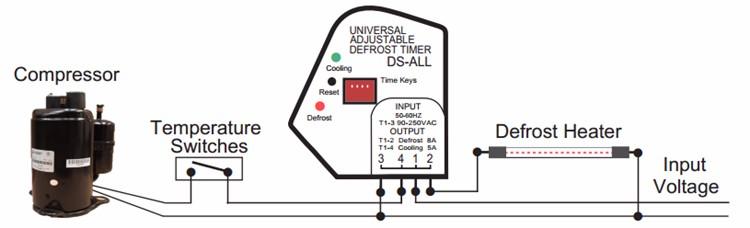 10 шт. / лот ds все электрические регулируемые таймера размораживания от 6-24 ч