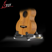 AROMA Foldable Aluminum Mini Guitar Ukulele Stand A-frame Holder Bracket Mount Universal for Ukulele Violin Mandolin 4 Colors